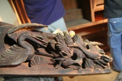 仏壇の彫刻