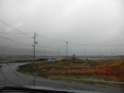 十八成浜 大雨