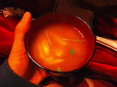 初物筍の味噌汁