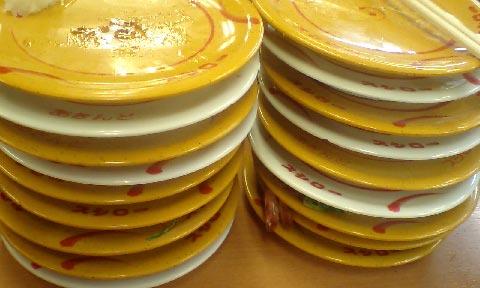 積み上げた皿