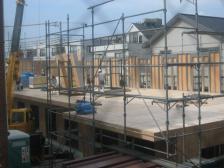 ご近所のアパート建築工事