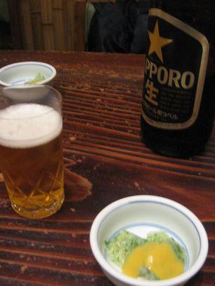 室町砂場 ビール&刺身こんにゃく