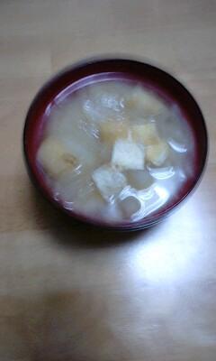 大根と揚げのお味噌汁 4月23日