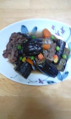 牛肉とナスの煮物