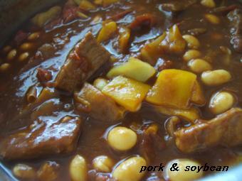 0727 豚と大豆のトマト煮込み