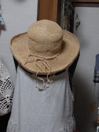 夏仕様の帽子(yurarinさん 作)