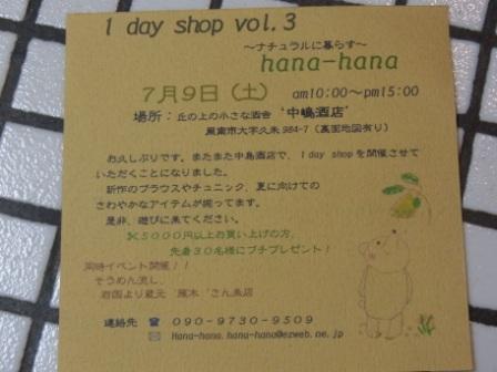 hana-hanaさんフライヤー