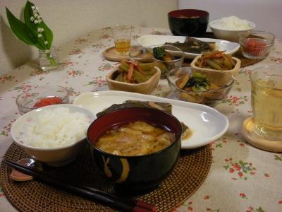 カレイの煮つけの食卓_convert_20090526165038