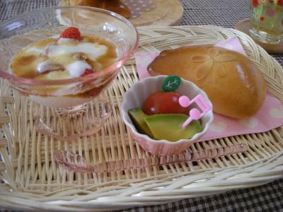クリームパンの朝ごはん_convert_20090528135821