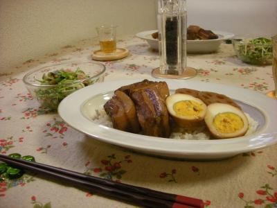 角煮丼と水菜サラダ_convert_20090613163600