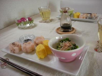 お赤飯プレートの朝ごはん_convert_20090614121912