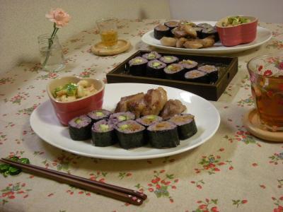 黒米巻き寿司のプレート2_convert_20090711181728