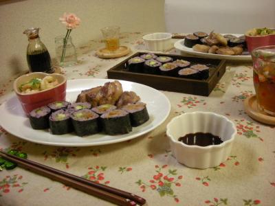 黒米巻き寿司のプレート3_convert_20090711181746