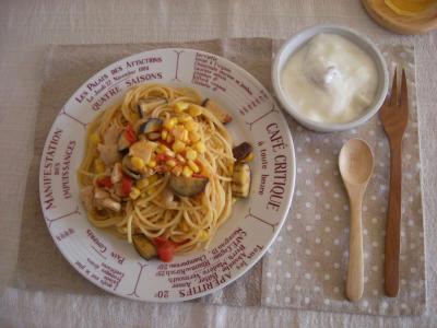 夏野菜パスタで朝ごはん3_convert_20090804144712
