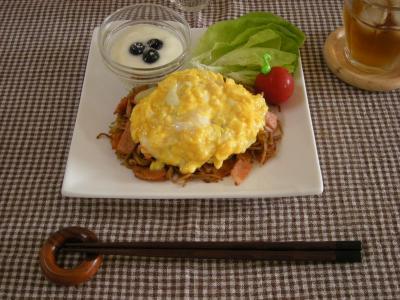 チーズオムそばで朝ごはん_convert_20090818140031