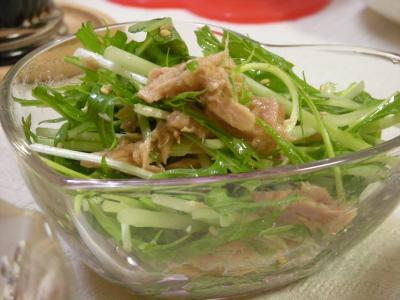水菜とシーチキンの和風サラダ_convert_20090909141941
