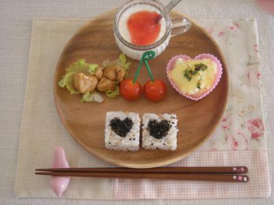 お弁当の残りで朝ごはん_convert_20090911102944