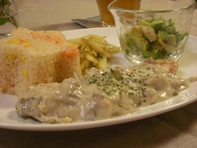 秋鮭のクリーム煮でワンプレート_convert_20090915101711