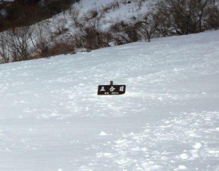 20120102‐15埋もれる五合目看板