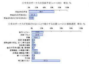 20111215冬のボーナスに関する調査【楽天リサーチ】