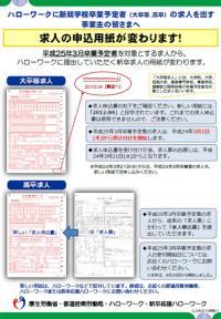 20120330求人の申込用紙が変わります