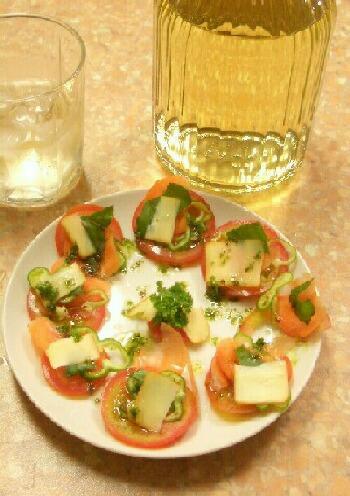 トマトとバジル&焼酎