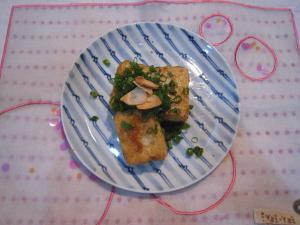 豆腐ステーキ大蒜醤油