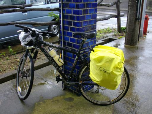 自転車と雨具