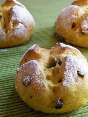 南瓜とレースンのパン