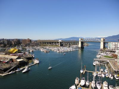 Burrard bridge from Grandville bridge