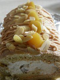 マロンのロールケーキ
