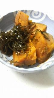 かぼちゃと切り昆布煮
