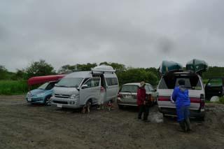釧路川ゴール車へ