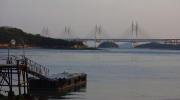 瀬戸大橋と桟橋