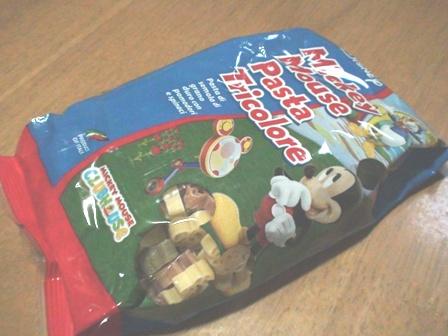 ミッキーマウスパスタ1