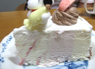 ハッピーアニバーサリーケーキ カット