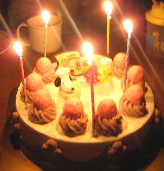 ハッピーアニバーサリーケーキ キャンドル