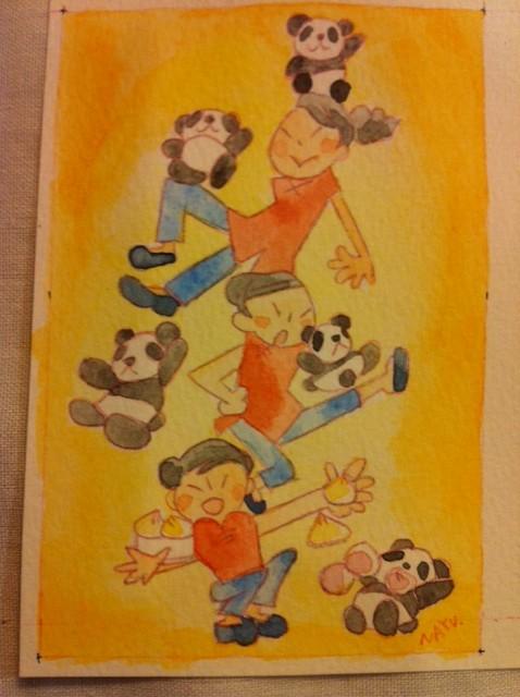 熊猫と中国娘2