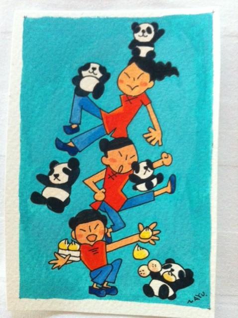 熊猫と中国娘3
