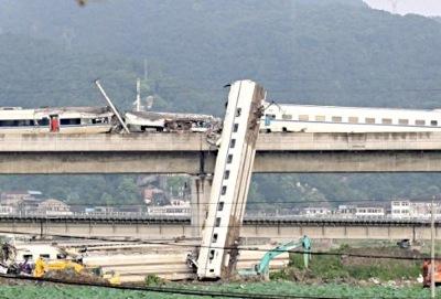 支那の新幹線事故