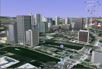 Google Earthの3D建物