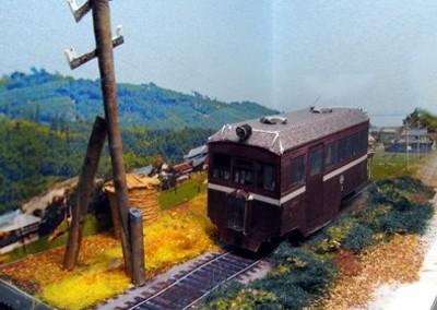 西大寺鉄道ペーパークラフトジオラマ02
