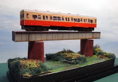 久留里線ペーパージオラマ1