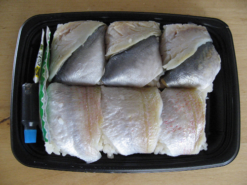 大船軒 鯵と小鯛の押し寿司 中身