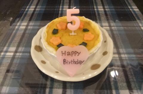 5才ケーキ小