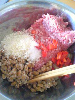 タコライス風納豆バーグ丼