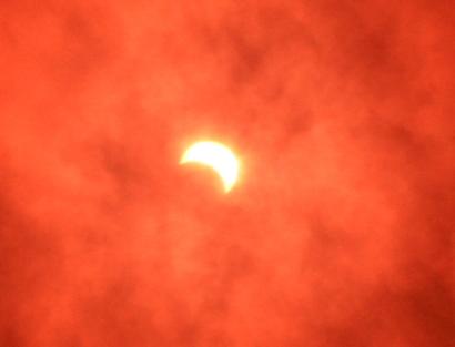 静岡市の部分日食-1