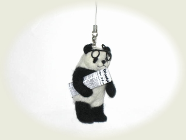 羊毛フェルト☆インテリパンダのストラップ