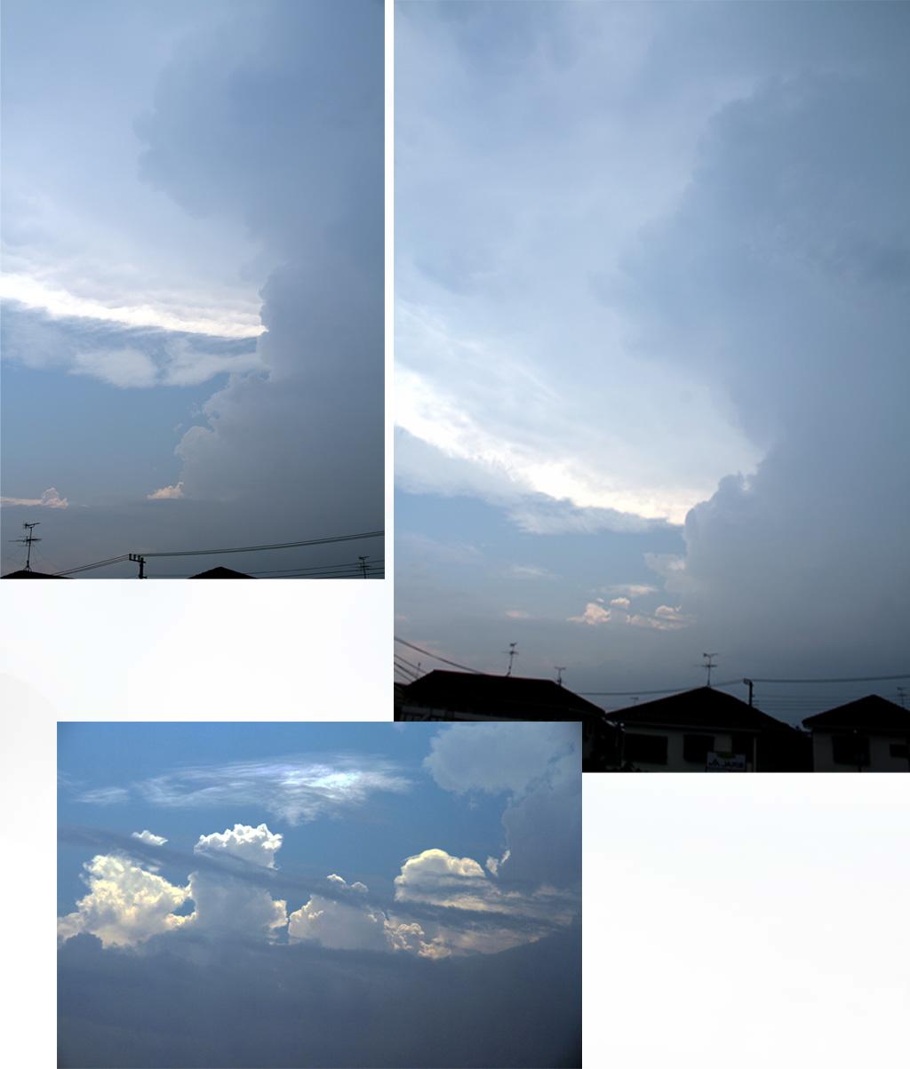⑧積乱雲とカナトコ雲 11日14時30分と35分後