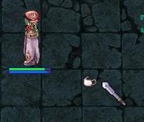 同時に落ちるマスクと両手剣